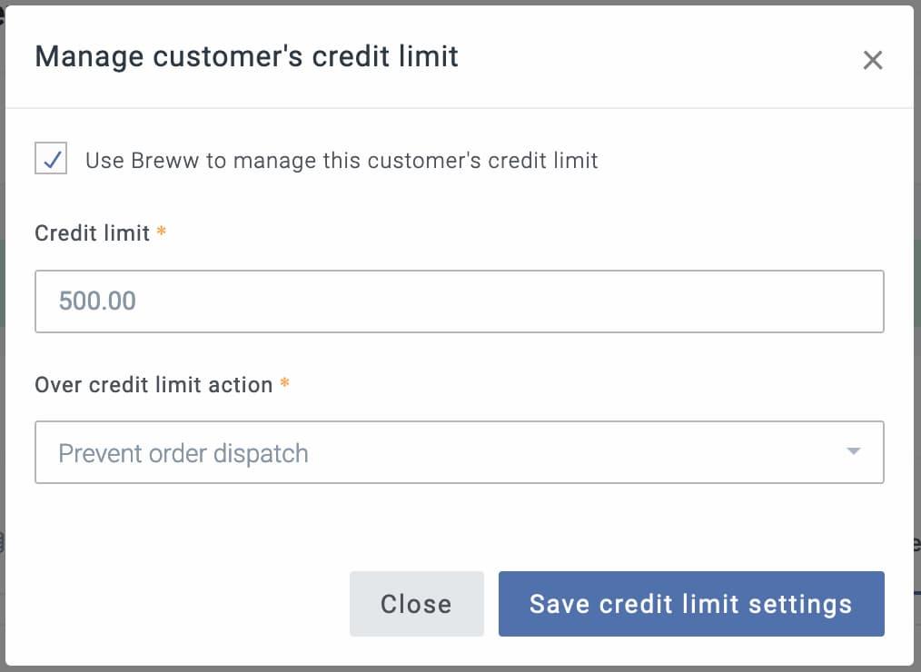 Track customer balances and enforce credit limits